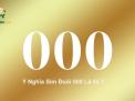 Ý nghĩa sim đuôi 000, cách chọn sim tam hoa 000 hợp mệnh