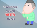 Vì sao nên lựa chọn sim Viettel trả sau?