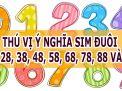 Thú vị ý nghĩa sim đuôi 18, 28, 38, 48, 58, 68, 78, 88 và 98