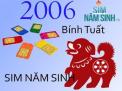 Thể hiện phong cách cùng sim năm sinh 2006